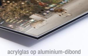 Voorbeeld acrylglas op aluminium-dibond