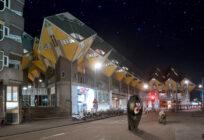 Artprint Wild Wild Rotterdam, Blaakse Bos Cube Houses