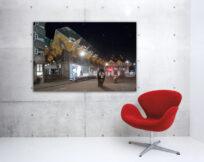 Artprint-Wild-Wild-Rotterdam,-Blaakse-Bos-Cube-Houses,-aan-de-muur