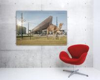 Artprint-Wild-Wild-Rotterdam,-Centraal-Station,-aan-de-muur