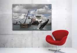 Artprint-Wild-Wild-Rotterdam,-Waalhaven,-aan-de-muur